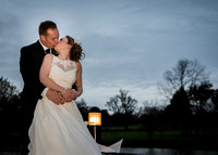 Surrey Wedding Photographer- weald of kent golf club- bride and groom kissing