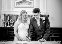 surrey wedding phtotgrapher-holy Cross Church in Carshalton- bride and groom