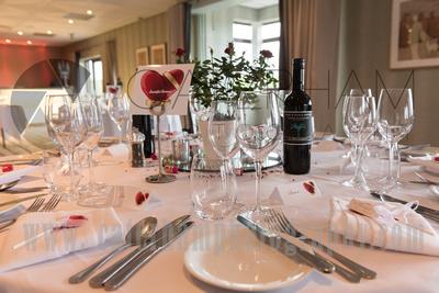 Surrey Wedding Photographer- Warlingham Farleigh Golf Club-Reception venue ready for party