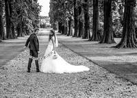 Surrey wedding photographer- just married black and white