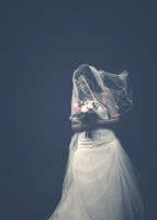 Surrey wedding photographer- bride with veil