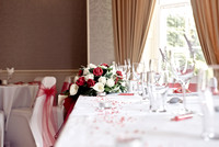 surrey wedding photographer- Crowhurst Park Wedding East Sussex- table decor