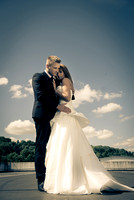 surrey wedding photographer- Fashion Wedding Photography- bride and groom hugging