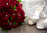 Surrey wedding venue wedding photographer cotton house Bridal shoes