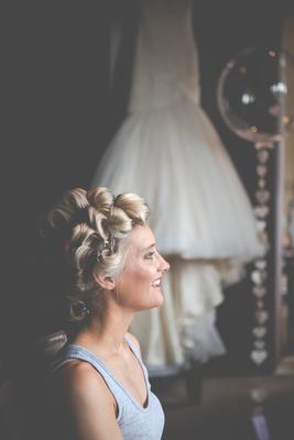 Surrey Wedding Photographer- Nutfield Priory- Bride getting ready