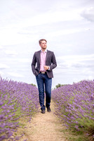 Surrey modeling photographer / caterham photography (7)  / A man walking through lavender fields
