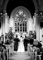 Surrey wedding photographer- St Pauls Church, East Molesey wedding - The wedding alter