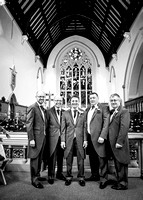 Surrey wedding photographer- St Pauls Church, East Molesey wedding - groom and bestmen