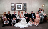 Wedding family photos at Mercure Box Hill Burford Bridge Hotel wedding