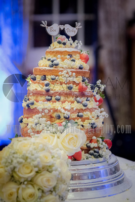 Surrey Wedding photographer- Wedding Venue Mulberry House- Outstanding Wedding Cake