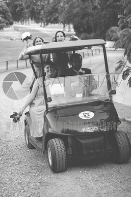 Surrey wedding photographer- Woldingham Golf Club- beautiful golf cart