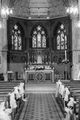 surrey wedding photography- Sacred Heart Church and Halls- the church
