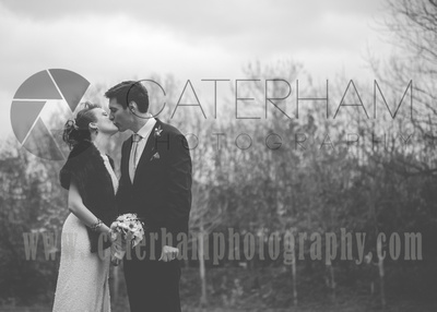 Surrey wedding photographer- Merton register office modern park house- black and white potrait